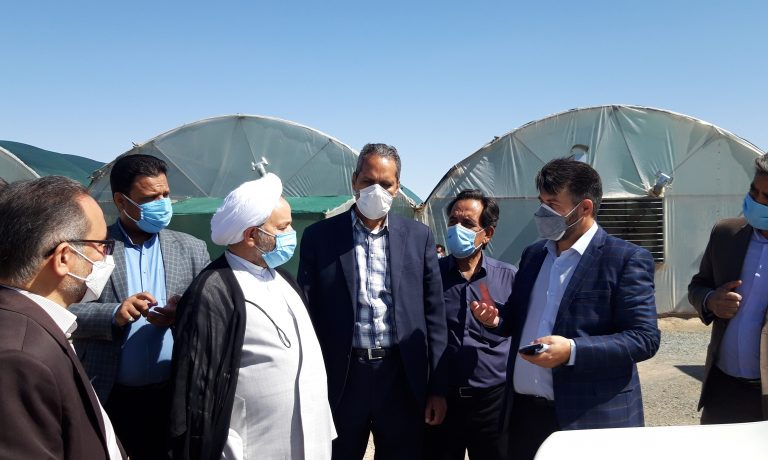 بازدید دادستان عمومی و انقلاب استان خراسان جنوبی از شرکت کشت و صنعت پیوند خاوران