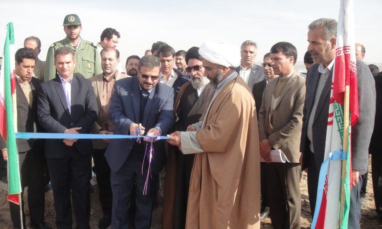 افتتاح طرح آبیاری کم فشار شرکت کشت و صنعت پیوند خاوران در سطح ۴۵۰ هکتار